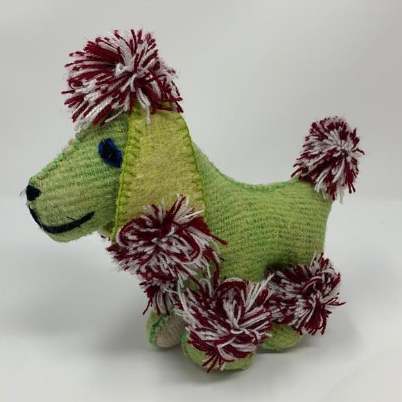 "Handmade DOG 7.5"" Toy Stuffed Animal Doll Vtg"